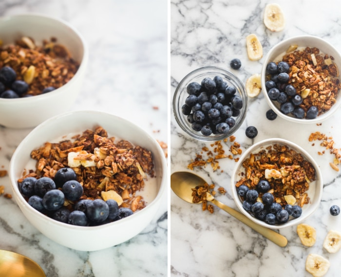chocolate banana granola