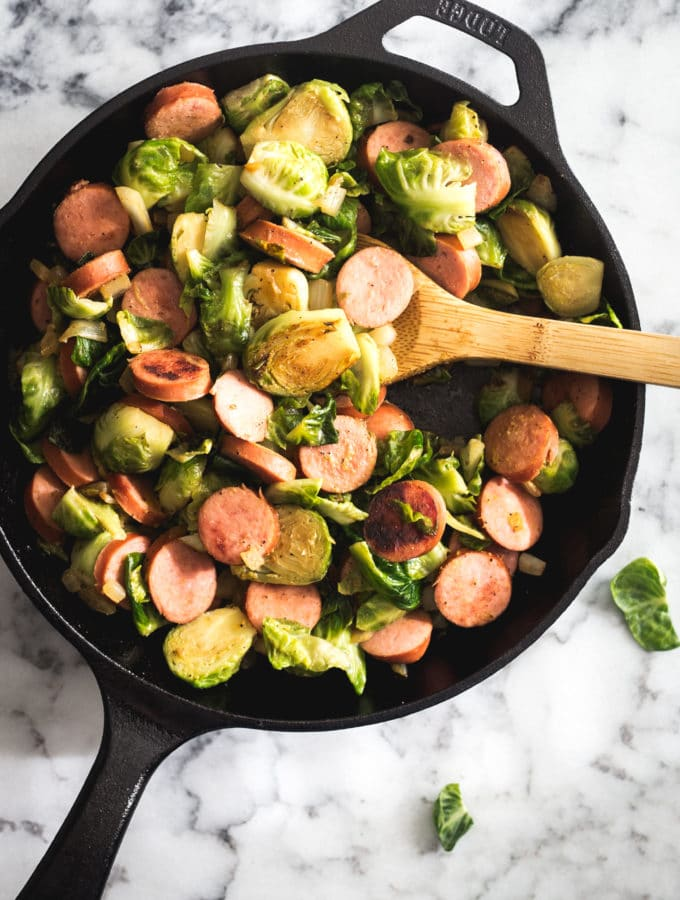 Cheesy Sausage and Brussels Sprouts-5