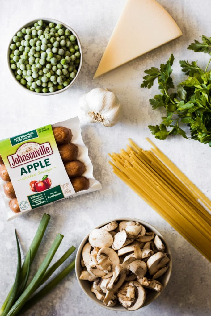 Ingredients for Apple Chicken Sausage Pasta