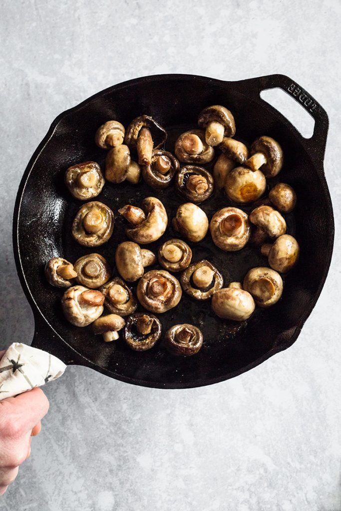 Sautéed Mushrooms - Process of making Button Mushrooms Recipe