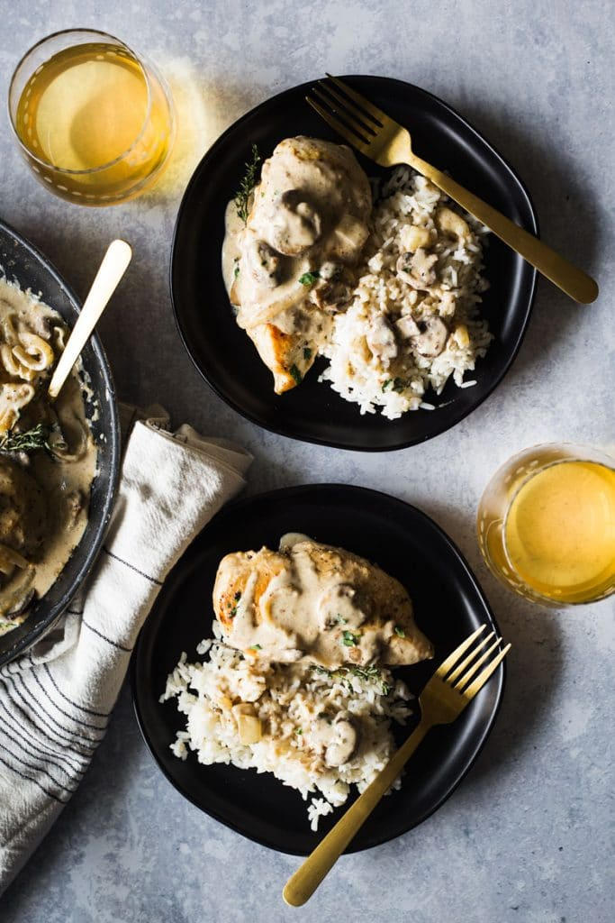 One Pan 30-Minute Chicken Breast with Creamy Mushroom Sauce