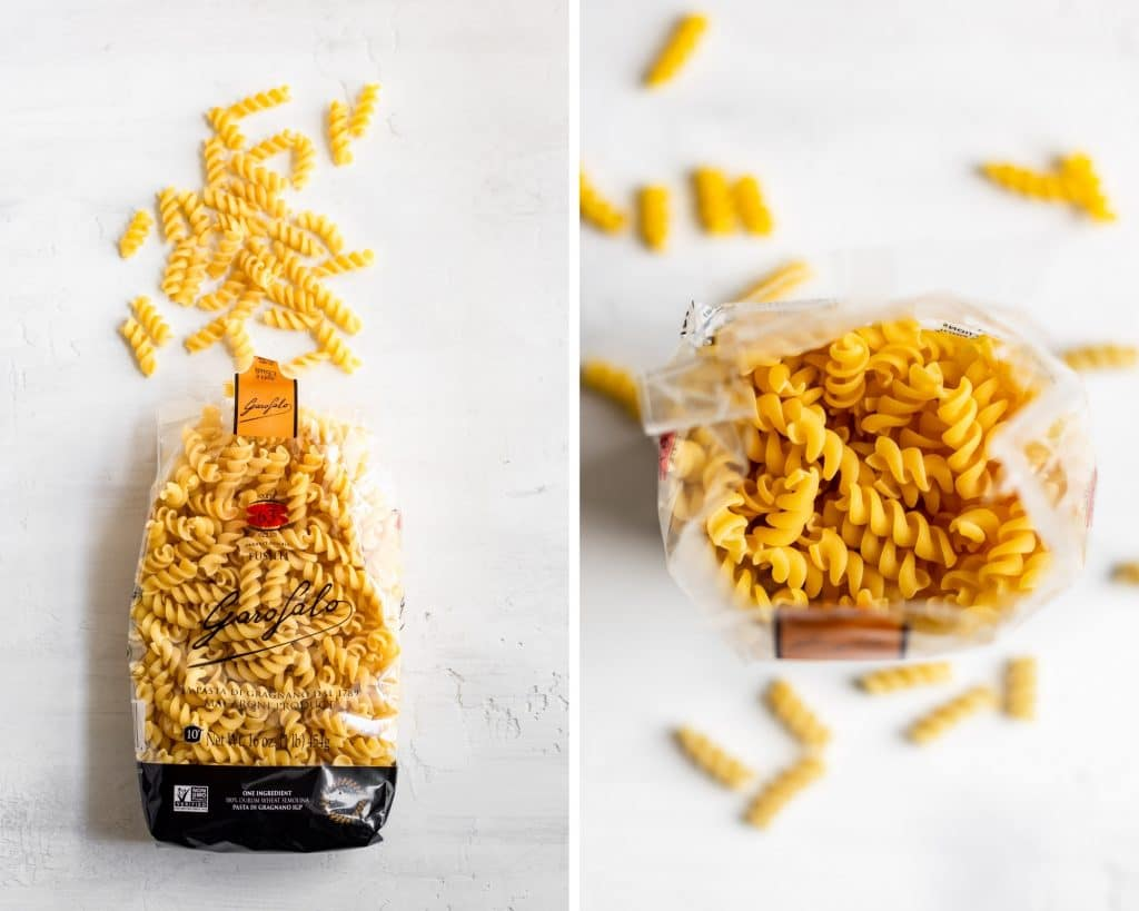 Garofalo fusilli pasta in package