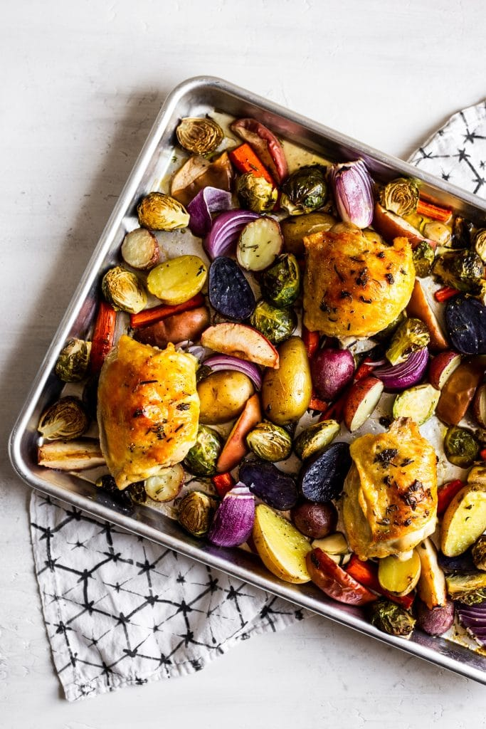 Roasted Chicken and Vegetables Sheet Pan Dinner