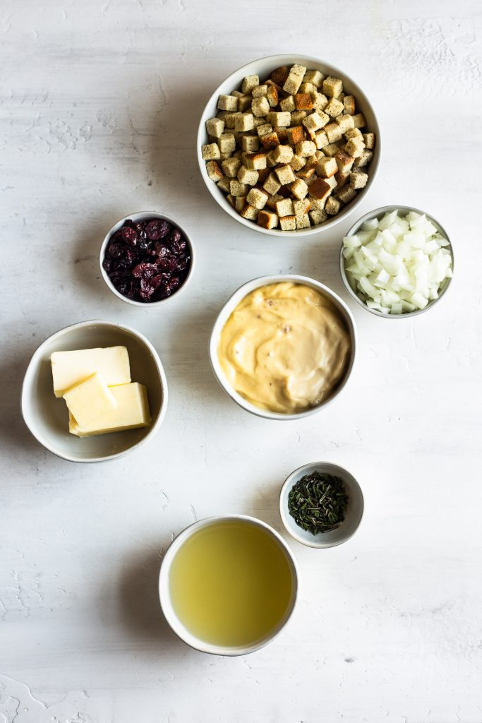 Ingredients for Slow Cooker Stuffing