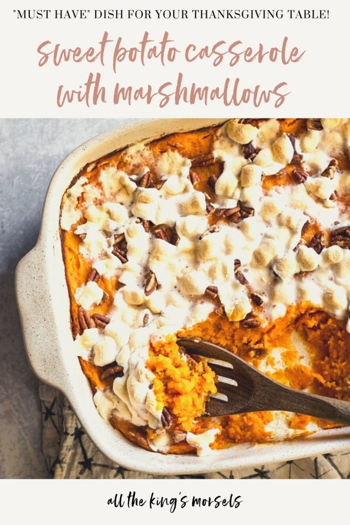 This easy Sweet Potato Casserole with Marshmallows is a family favorite and the dish your Thanksgiving table can't be without!